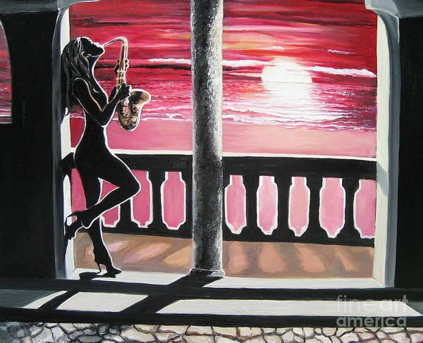 Sax Painting - Saxy by Toni  Thorne