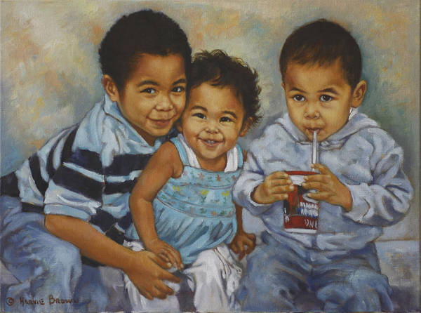 Casual Painting - Say Cheese by Harvie Brown