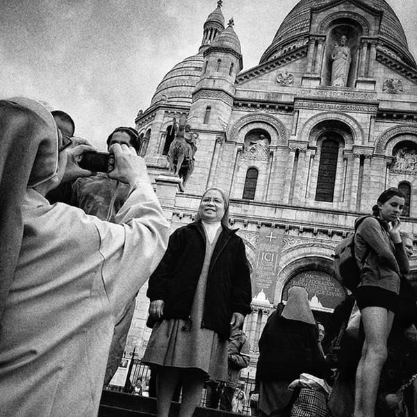 Portrait Photograph - Say Chriiiiiiist!! #nun #monument by Rafa Rivas