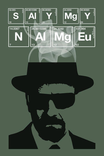 Bryan Painting - Say My Name - Breaking Bad Poster Walter White Quote by Beautify My Walls