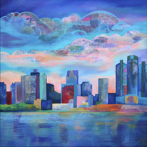 Wings Painting - Say Nice Things About Detroit by Shadia Derbyshire