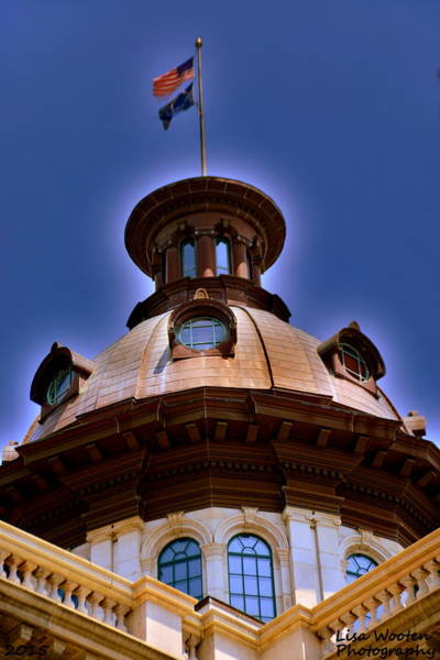 Wall Art - Photograph - Sc State House Dome H D R by Lisa Wooten