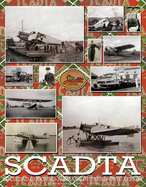 Photograph - Scadta Airline Poster by Jeff Phillippi