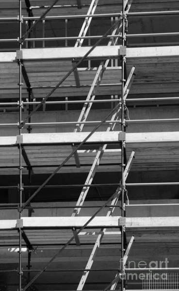 Photograph - Scaffolding And Ladders by Colin Rayner