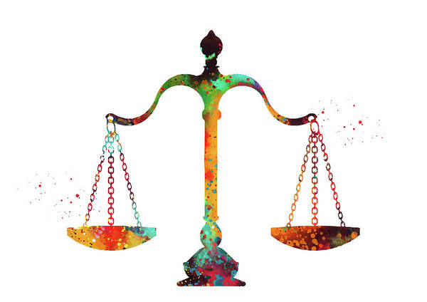 Wall Art - Digital Art - Scales Of Justice by Erzebet S