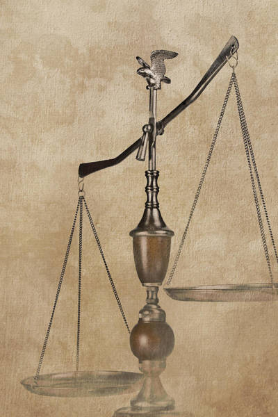Court Photograph - Scales Of Justice by Tom Mc Nemar
