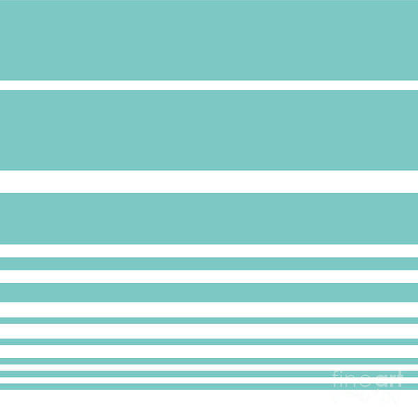 Textura Wall Art - Digital Art - Scandi Pastel Mint Stripes by Studio Textura
