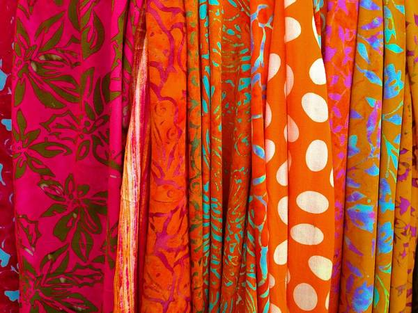 Photograph - Scarf Display by Polly Castor