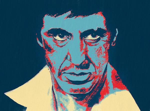 Wall Art - Painting - Scarface Pop Art by Dan Sproul