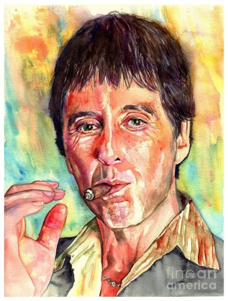 Serial Killer Painting - Scarface by Suzann Sines