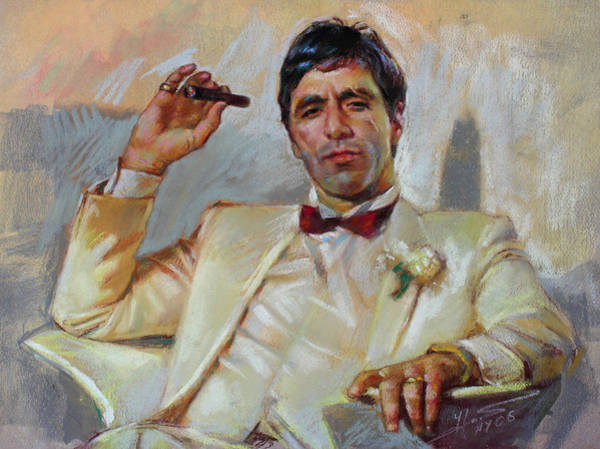Wall Art - Pastel - Scarface by Ylli Haruni