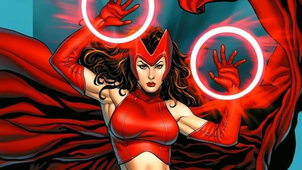 Drawing Digital Art - Scarlet Witch by Maye Loeser