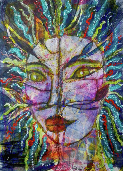Mixed Media - Scarred Beauty by Mimulux patricia No