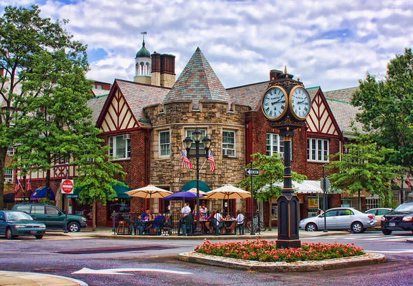 Town Square Photograph - Scarsdale New York by June Marie Sobrito
