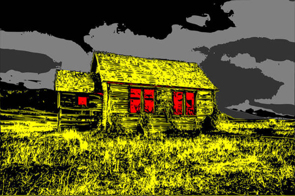 Digital Art - Scary Farmhouse by Piotr Dulski