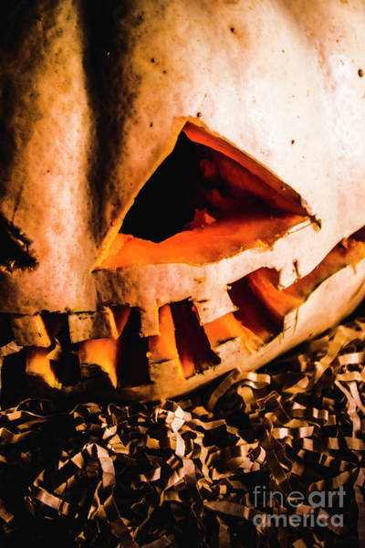 Carving Photograph - Scary Jack O Lantern. Halloween Faces by Jorgo Photography - Wall Art Gallery