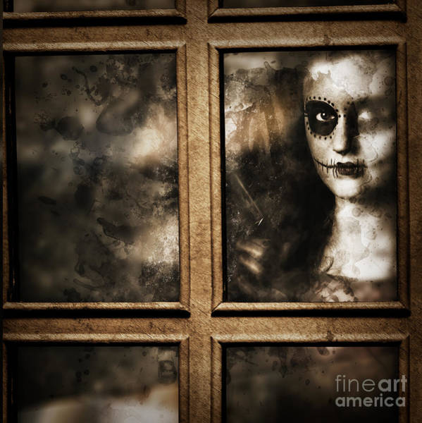 Photograph - Scary Murderer Standing By The Window With Handgun by Jorgo Photography - Wall Art Gallery