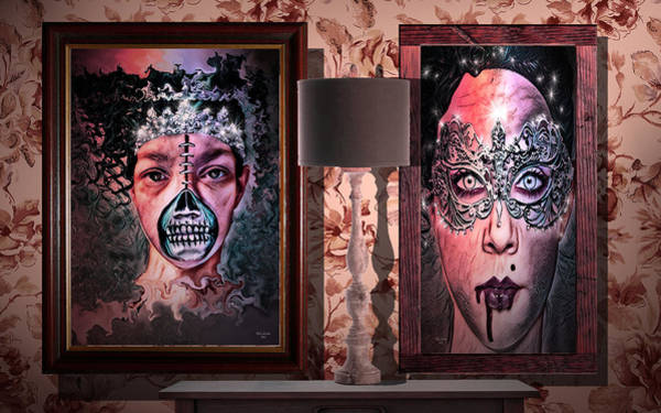 Scary Museum Wallart Art Print