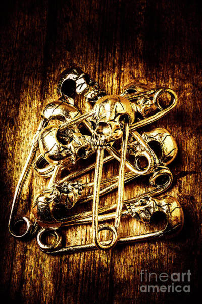 Anatomy Wall Art - Photograph - Scary Safety Pins by Jorgo Photography - Wall Art Gallery