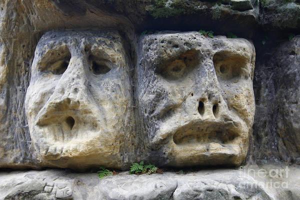 Wall Art - Photograph - Scary Stone Heads by Michal Boubin