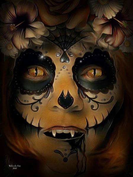 Digital Art - Scary Vampire by Artful Oasis