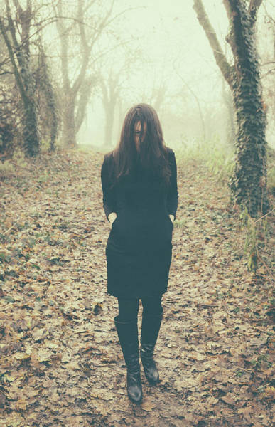 Photograph - Scary Woman In Woods by Alexandre Rotenberg