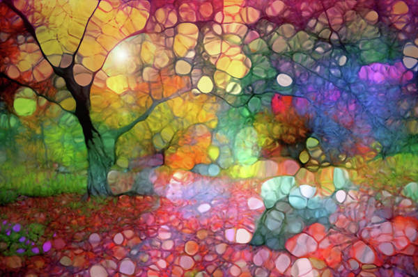 Cheery Digital Art - Scattered Colours In The Autumn Gardens by Tara Turner