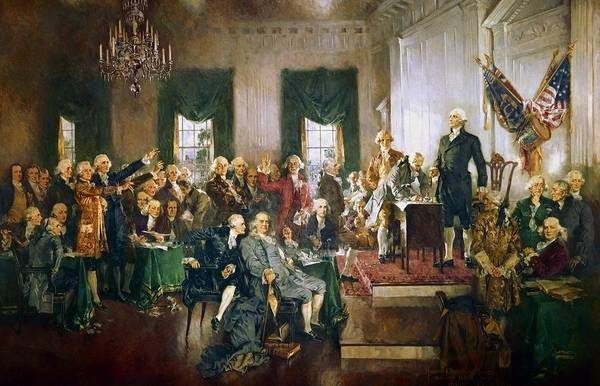 Wall Art - Painting - Scene At The Signing Of The Constitution by Howard Chandler Christy