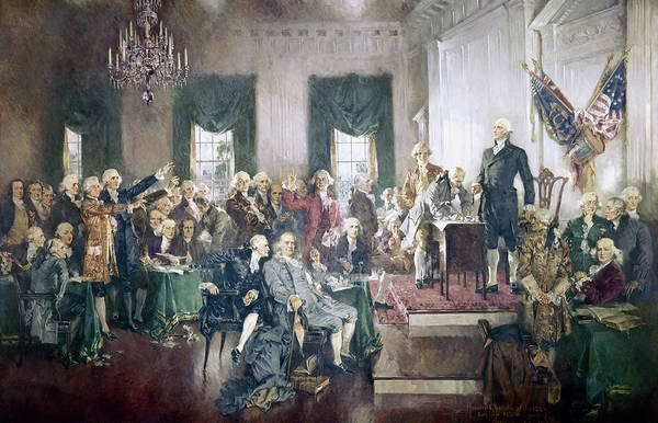 Howard Painting - Scene At The Signing Of The Constitution Of The United States by Howard Chandler Christy