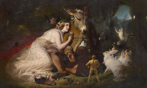Painting - Scene From A Midsummer Night's Dream by Edwin Henry Landseer