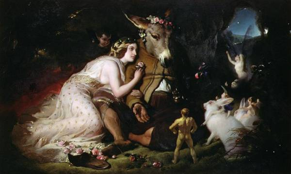 Exterior Painting - Scene From A Midsummer Night's Dream by Sir Edwin Landseer