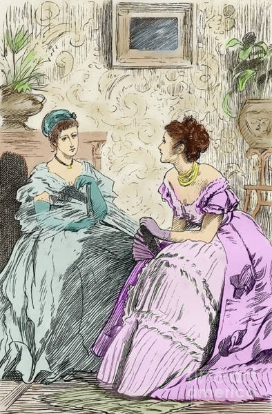 Wall Art - Drawing - Scene From Anthony Trollope's Novel He Knew He Was Right by Marcus Stone