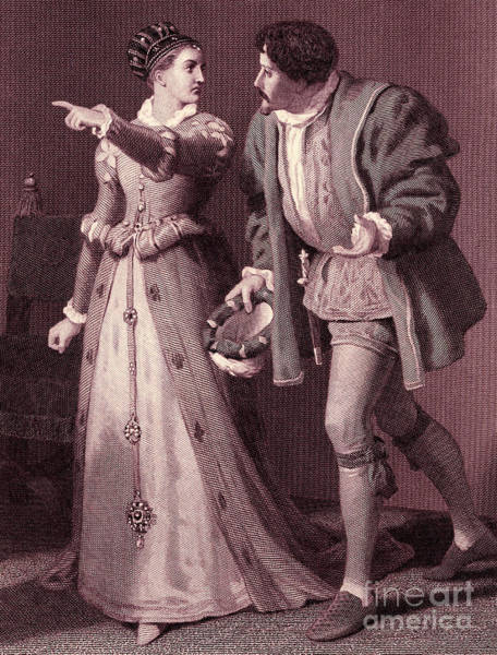 Wall Art - Drawing - Scene From Much Ado About Nothing By William Shakespeare by Rudolf Eichstaedt