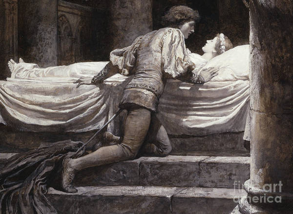 Tragedy Painting - Scene From Romeo And Juliet - The Tomb  by Frank Dicksee