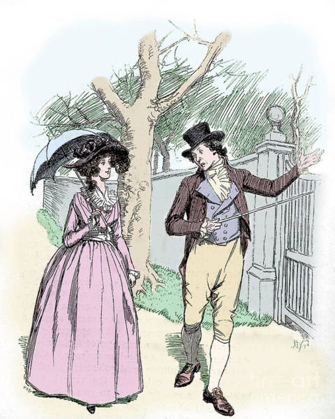 Wall Art - Drawing - Scene From Sense And Sensibility By Jane Austen by Hugh Thomson