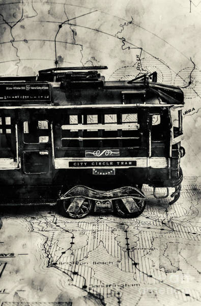 Black Car Photograph - Scene From The Old Tramway by Jorgo Photography - Wall Art Gallery