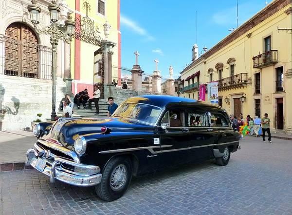Photograph - Funeral Car In Guanajuato by Rosanne Licciardi