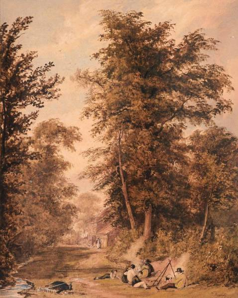 1781 Painting - scene near Newbury by MotionAge Designs