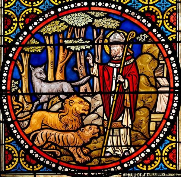 Glass Art - Scenes From The Life Of Saint Austremonius by Francois Taureilles