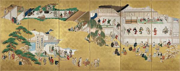 Kabuki Painting - Scenes From The Nakamura Kabuki Theater by Hishikawa Moronobu