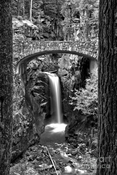 Photograph - Scenic Christine Falls Black And White by Adam Jewell