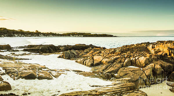 Low Tides Photograph - Scenic Coastal Dusk by Jorgo Photography - Wall Art Gallery