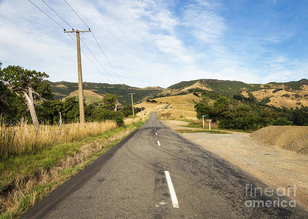 Photograph - Scenic Drive, The Summit Road, Near Akaroa In The Banks Peninsul by Didier Marti