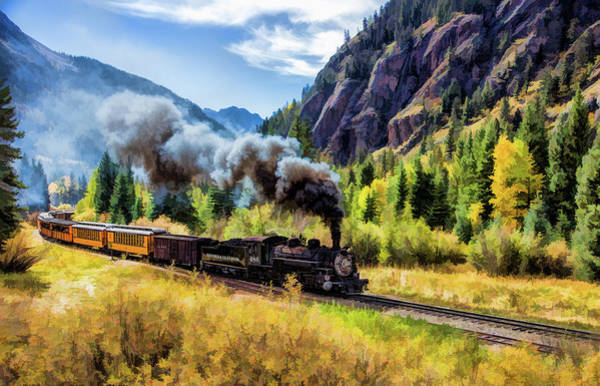 Painting - Scenic Durango And Silverton Steam Train by Christopher Arndt