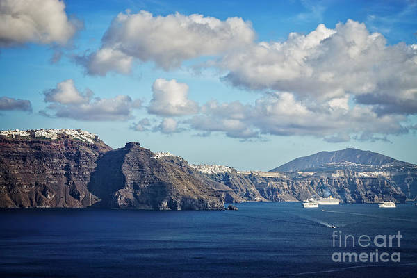 Wall Art - Photograph - Scenic From Oia by HD Connelly