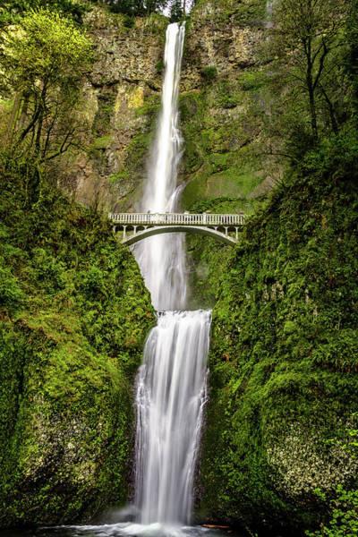 Photograph - Scenic Multnomah Falls Or by Teri Virbickis