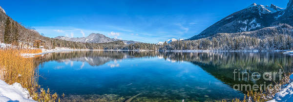 Wall Art - Photograph - Scenic Picture-postcard View Of Idyllic Alpine Mountain Lake by JR Photography