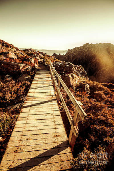Wood Planks Photograph - Scenic Summit Boardwalk by Jorgo Photography - Wall Art Gallery