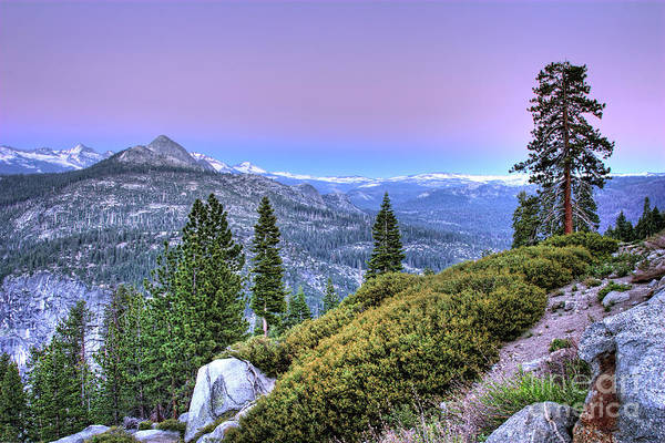 Vernal Fall Photograph - Scenic View From Yosemite Glacier Point by Dan Carmichael