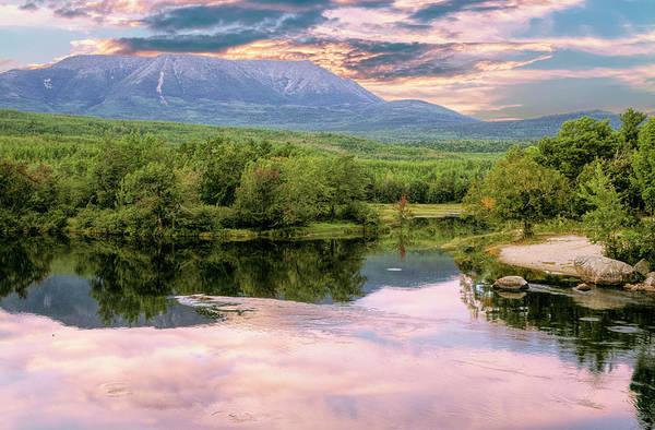 Digital Art - Scenic View Of Mt. Katahdin Maine by Rusty R Smith